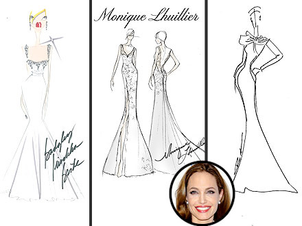 angelina jolie wedding dress sketches people