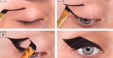 BatBatman cat eyes maquiagem
