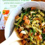 Salada de Massa com Peito de Peru com Ervas Primor e Molho de Mostarda, Mel e Limão (receita também em video)