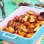 Batatas Temperadas no Forno