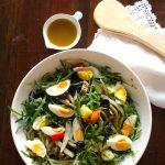 Salada de Atum, Batata, Feijão Verde e Rúcula