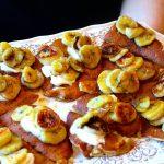 Panquecas de Espelta com Banana Caramelizada