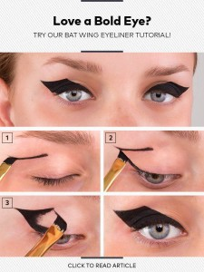 Make up Batman Cat Eyes