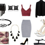 black and white – outfit para a noite