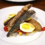 Filetes de Cavala com Salada de Batata e Ovo
