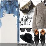 Ideia de outfit para hohe – Ripped Jeans