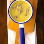 Sopa de Grão de Bico com Batata Doce e Couve Flor