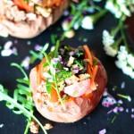 Batata Recheada com Carne Picada em Molho de Tomate