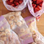 Compras Fraccionadas (e aproveitar fruta mais madura que se comprou a um bom preço!)