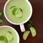 Sopa Fria de Pepino e Meloa com a Jullie
