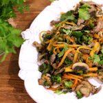 Salteado de Legumes e Bife