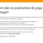 Estudo de yoga em Portugal