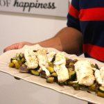 Filetes de Peixe a vapor com Legumes Salteados com Pesto