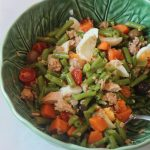 Salada Fast Food de atum, feijão verde e Batata doce