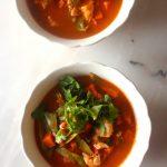 Sopa de Pescada com Batata Doce e Ervilhas Tortas