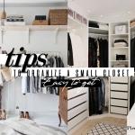 Como Organizar um Closet Pequeno