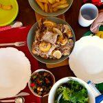 Entrecosto Assado com Alecrim e Limão e Batatas Louras