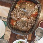 Peixe Galo no Forno com Batatas, Pimento e Tomate