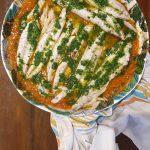 Sardas com Molho de Tomate e Pimento e Azeite de Salsa