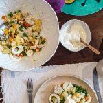 Salada Russa de Pescada com Maionese de iogurte Grego